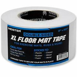Double-sided Xl Floor Mat Tape - Secures Exercise Mats And Xl Roll - 30yd X 3in