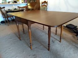 Antique Dining Room Table Cherry Wood Centennial