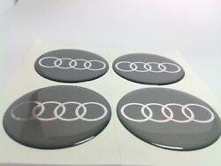 New 4pcs Silicone Stickers For Wheel Centre Cap Hubs For Audi - 50mm