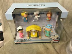 Peanuts Nativity Figures Deluxe Set New In Box Charlie Brown, Snoopy