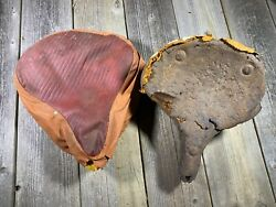 Vintage Antique Bike Bicycle Springer Seat And Seat Cover Motorcycle For Parts