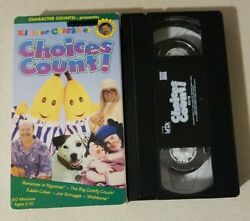 Kids for Character: Choices Count 1997 VHS Tape Bananas In Pajamas RARE OOP $16.36