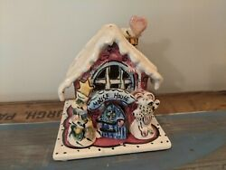 Blue Sky The Christmas Collection Mouse House Healther Goldminc Tea Light Holder