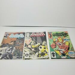 Lot Of 3 Marvel Comic - The Punisher 2 And 2 Of 5 Amazing Spider-man 20
