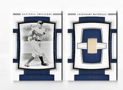 2020 Babe Ruth National Treasures Legends Materials 10/25 Lm-br Booklet