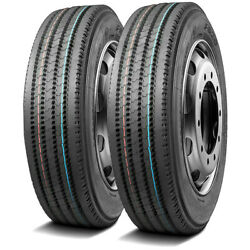 2 New Leao F820 265/70r19.5 Load G 14 Ply All Position Commercial Tires