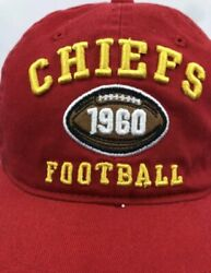 Kansas City Chief Nfl Football Cap/hat 1960 Neat And Rare Red Yellow And White Logo