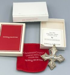 Reed And Barton 1991 Annual Christmas Cross Sterling Silver With Box