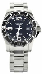 Longines Hydro Conquest Stainless Steel Black Dial On Bracelet L3.642.4 44mm
