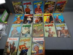 18 Vintage 1950's Dell Comics Gene Autry Western 10 Cent Covers Only Lot A