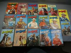 17 Vintage 1950's Dell Comics Gene Autry Western 10 Cent Covers Only Lot B