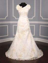 Authentic St. Pucchi Ingrid Wedding Dress Ivory Fit And Flare New 8 Return Policy