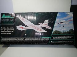 New Ares Gamma 370 Rc Remote Control Plane Airplane W/ Transmitter Ready 2 Fly