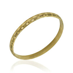 6.7mm Carved Bangle Bracelet In 20k Yellow Gold