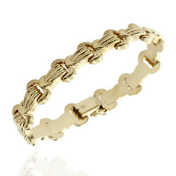 12.9mm Lobster Claw Link Bracelet In 14k Yellow Gold