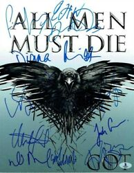 Game Of Thrones Cast Autographed Signed 11x14 Photo Beckett Authentic Bas Coa