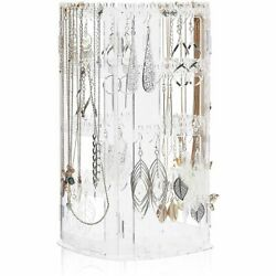 Rotating Jewelry Holder, Necklace Display Stand 6.3 X 11.75 X 6.3 In