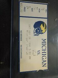 Tom Brady Debut Ticket 1st Ncaa Game 1996 Michigan Ucla 9/28 With Correct Time