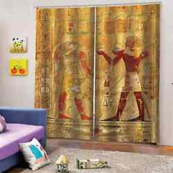 Simple Primitive Tribal Game Way Printing 3d Blockout Curtains Fabric Window
