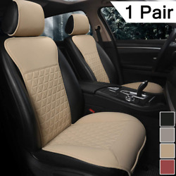 Black Panther 1 Pair Luxury Pu Car Seat Covers Protectors For Front Seats, Trian