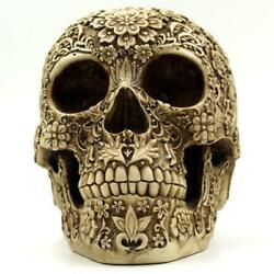 Life Size Antique Skull Head Skeleton Model Statue For Halloween Party