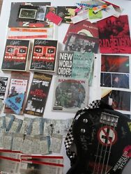 Bad Religion Autograph Collection Bass Guitar Records Ticket Stubs Concert Stuff