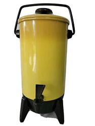 Vintage Mirro-matic Harvest Yellow 22 Cup Electric Coffee Percolator M9294-75