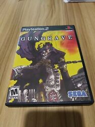 Gungrave Sony Playstation 2, 2002 Disc Case Manual Very Good