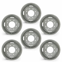 Set Of 6 17🔥 Dually Steel Wheels For 05-16 Ford F350 Super Duty Oem Qlty 10093