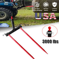 3 Point Trailer Hitch Category 1 Tractor Tow Hitch Drawbar Adapter 49''hay Spear