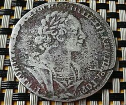 Russian Empire - Silver 1 Rouble 1724 Peter I The Great 1682-1725 Ad. Very Rare