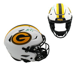 Aaron Rodgers Signed Green Bay Packers Speed Flex Authentic Lunar Nfl Helmet