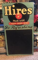 Vintage Hires Root Beer Sign And Chalk Board