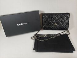 AUTHENTIC Chanel WOC Wallet on Chain Black 2013 Rare $1600.00