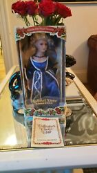 Dandee Collectors Choice Limited Edition Porcelain Doll 17 In Blue Eyes.