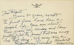 Herbert Hoover - Autograph Letter Signed Circa 1951