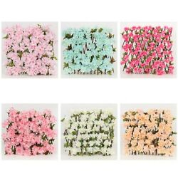 Expanding Trellis Artificial Flowers Wall Leaf Wood Fence Privacy Screen Decor