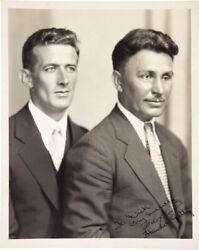 Wiley Post - Autographed Inscribed Photograph Co-signed By Harold Gatty