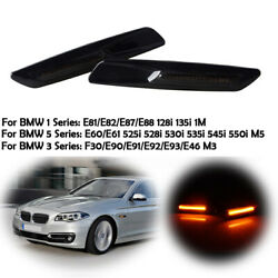 Fender Side Marker Light Lamps For Bmw 2011-2016 F10 F11 F18 5series Turn Signal