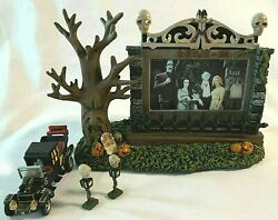 Hawthorne Village Munsters Drive In Theater With Accessories Halloween Nib