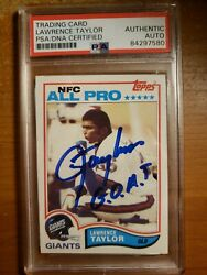 1982 Topps Lawrence Taylor Rc Auto Goat Inscription