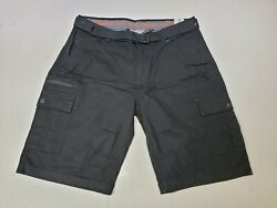 Wear First Black Free Band Performance Stretch Cargo Shorts Men#x27;s Size 38 NWT