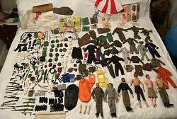 6 Vintage 60's 70's Gi Joe And Lots Of Accessories ,weapons, Clothes, Guns 200+