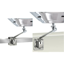 Magma Square/flat Rail Mount Or Side Bulkhead Mount F/kettle Series Grills [a10-