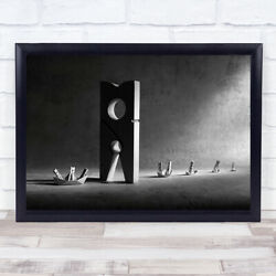 Colossus Of Rhodes 2 Clothes Pegs Conceptual Wall Art Print