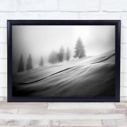 Mystic Trees Alps Cold Fir Forest Frost Frozen Hill Ice Wall Art Print