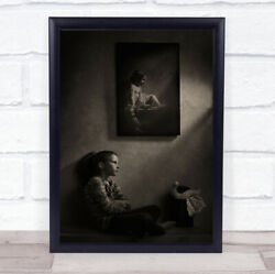 Growing Up 5 Years Later Frame Frames Basket Sitting Shadow Light Wall Art Print