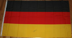 Michael Schumacher Signed 36x60 Inches German / Germany Flag