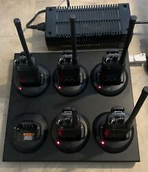Lot Of 5 Motorola Cp185 Two Way Radio Uhf With A Cradle Of 6 Unit And 85w Power