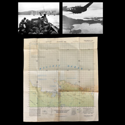 Rare Wwii 1944 D-day Red Beach Tanahmerah Bay Reckless Task Force Infantry Map